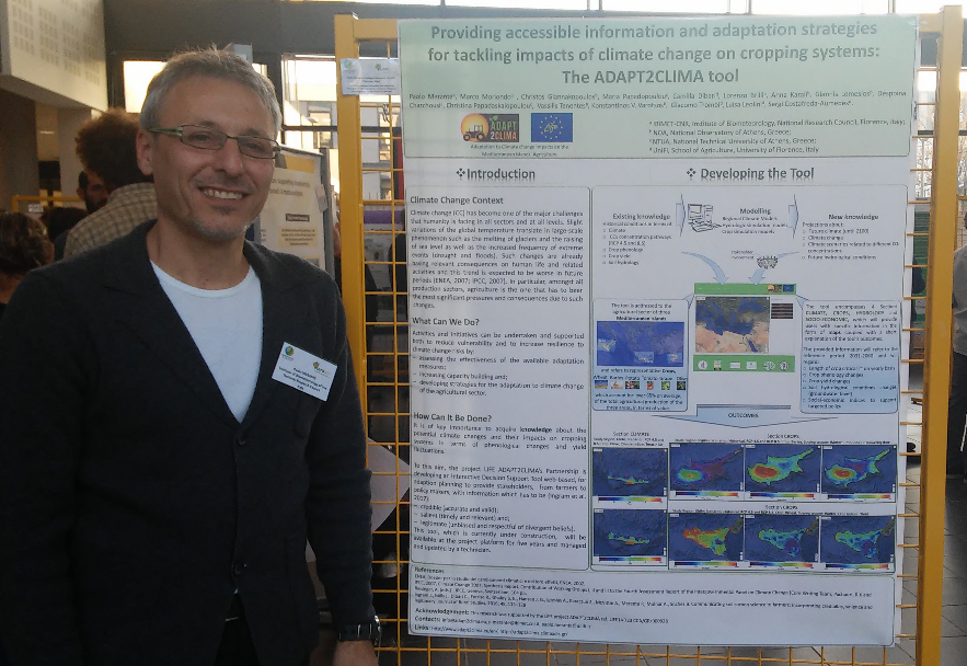 Dr. Paolo Merante during the presentation of the Poster at the First Agroecology Europe Forum in Lyon, France.